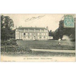 carte postale ancienne 27 CHATEAU D'ORVAUX. Jardinier près d'Evreux 1907