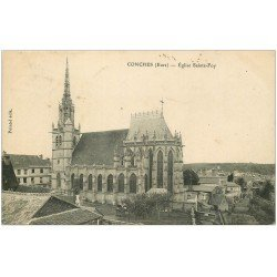 carte postale ancienne 27 CONCHES. Eglise Sainte-Foy 1905