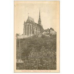 carte postale ancienne 27 CONCHES. Eglise Sainte-Foy Abside