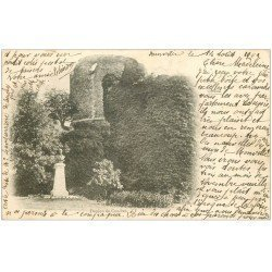 carte postale ancienne 27 CONCHES. Le Donjon 1902
