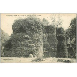carte postale ancienne 27 CONCHES. Le Donjon 1920