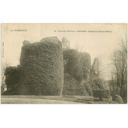 carte postale ancienne 27 CONCHES. Le Donjon ruines