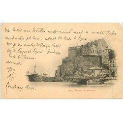 carte postale ancienne 07 TOURNON. Vieux Château 1903