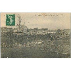 carte postale ancienne 27 CONCHES. Vue Route d'Evreux 1908