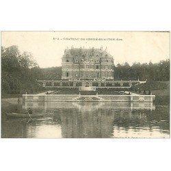 carte postale ancienne 27 CONDE-SUR-ITON. Château 1907 et Rameur