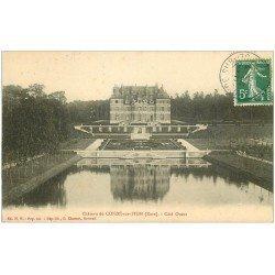 carte postale ancienne 27 CONDE-SUR-ITON. Château 1912