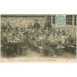 carte postale ancienne 27 EVREUX. Cantines Scolaires Ecole de la Madeleine 1905. Ecoliers à Drucourt
