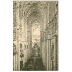 carte postale ancienne 27 EVREUX. Cathédrale intérieur vers 1900