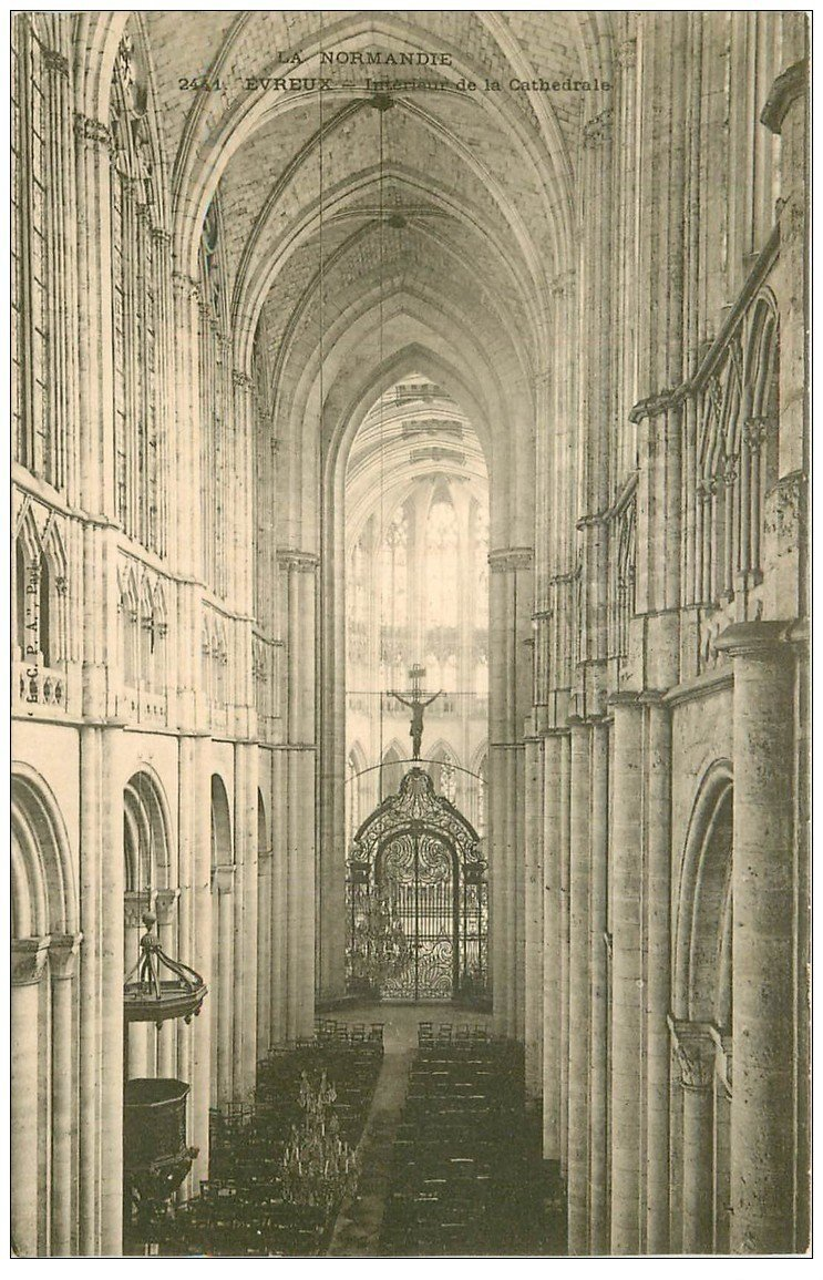 27 evreux cath drale int rieur vers 1900 for Interieur 1900