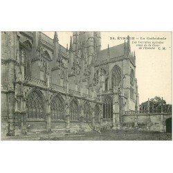 carte postale ancienne 27 EVREUX. Cathédrale Verrerie 1925