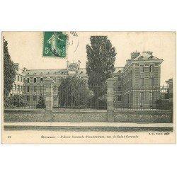 carte postale ancienne 27 EVREUX. Ecole Instituteurs rue Saint-Germain 1907