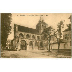 carte postale ancienne 27 EVREUX. Eglise Saint-Taurin