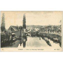 carte postale ancienne 27 EVREUX. Faubourg Saint-Léger