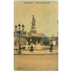 carte postale ancienne 27 EVREUX. Fontaine Monumentale. Carte toilée