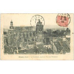 carte postale ancienne 27 GISORS. Cathédrale 1905