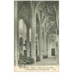 carte postale ancienne 27 GISORS. Cathédrale Piliers