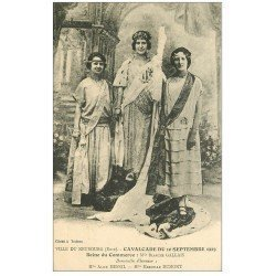 carte postale ancienne 27 LE NEUBOURG. Cavalcade de 1923. Galeais Reine du Commerce