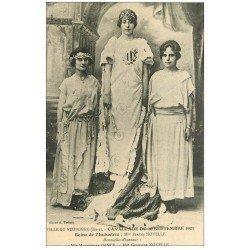 carte postale ancienne 27 LE NEUBOURG. Cavalcade de 1923. Noyelle Reine de l'Industrie