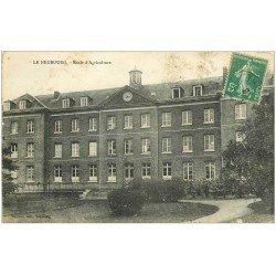 carte postale ancienne 27 LE NEUBOURG. Ecole Agriculture 1916