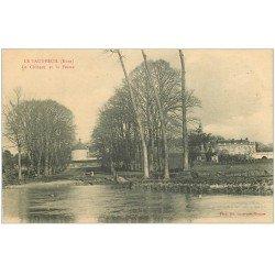 carte postale ancienne 27 LE VAUDREUIL. Le Château et Ferme