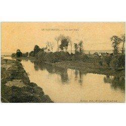 carte postale ancienne 27 LE VAUDREUIL. Vue sur l'Eure 1908