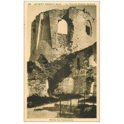 carte postale ancienne 27 LES ANDELYS. Château Gaillard Entrée Souterrains 1937