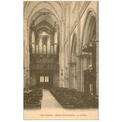 carte postale ancienne 27 LES ANDELYS. Eglise Notre-Dame le Buffet d'Orgues