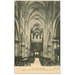 carte postale ancienne 27 LES ANDELYS. Eglise Notre-Dame Nef et Orgues