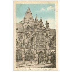 carte postale ancienne 27 LES ANDELYS. Eglise Notre-Dame Portail