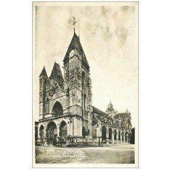 carte postale ancienne 27 LES ANDELYS. Eglise Notre-Dame. Carte émaillographie