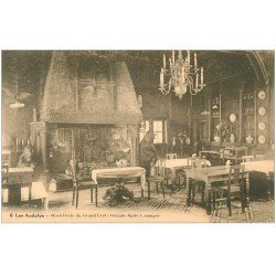 carte postale ancienne 27 LES ANDELYS. Hostellerie du Grand Cerf Salle à Manger