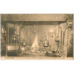 carte postale ancienne 27 LES ANDELYS. Hostellerie du Grand Cerf Cheminée