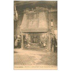 carte postale ancienne 27 LES ANDELYS. Hostellerie du Grand Cerf Grande Cheminée
