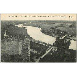 carte postale ancienne 27 LES ANDELYS. Pont et méandres Seine