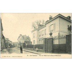 carte postale ancienne 27 LES ANDELYS. Rue et Hôtel de la Sous-Préfecture