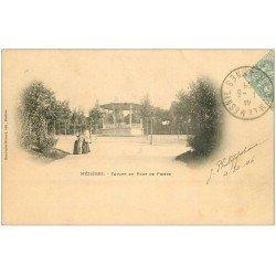 carte postale ancienne 08 CHARLEVILLE MEZIERES. Square du Pont de Pierre 1905