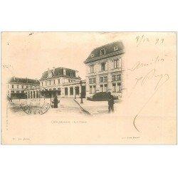 carte postale ancienne 08 CHARLEVILLE. Rare 1899 la Gare