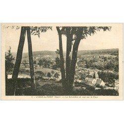 carte postale ancienne 27 LYONS-LA-FORET. Belvédère et Pays 1938