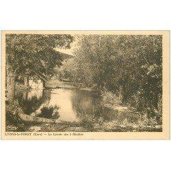 carte postale ancienne 27 LYONS-LA-FORET. Le Lavoir des 3 Moulins