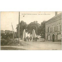 carte postale ancienne 08 CHATEAU-PORCIEN. Pont de la Rivière d'Aisne 1932