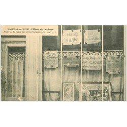 carte postale ancienne 27 MARCILLY-SUR-EURE. Hôtel de l'Abbaye. Elections truquées fraudes et mensonges en 1912. Cadre PICON