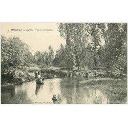 carte postale ancienne 27 MARCILLY-SUR-EURE. Partie canotage sur le Couénon