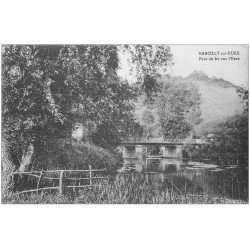 carte postale ancienne 27 MARCILLY-SUR-EURE. Pont de Fer. Carte bleu-vert