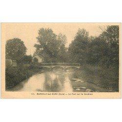 carte postale ancienne 27 MARCILLY-SUR-EURE. Pont sur le Couénon 1948