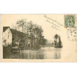 carte postale ancienne 27 MEREY. L'Eure 1907. Mini pli