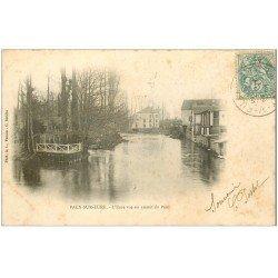 carte postale ancienne 27 PACY-SUR-EURE. L'Eure en amont du Pont 1904