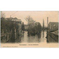 carte postale ancienne 27 PONT-AUDEMER. Ilot de la Brasserie 1915