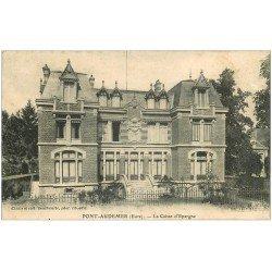 carte postale ancienne 27 PONT-AUDEMER. La Caisse d'Epargne 1905