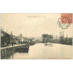 carte postale ancienne 27 PONT-AUDEMER. La Risle 1906