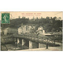 carte postale ancienne 27 PONT-AUDEMER. Le Barrage 1914. Aux Galeries de Paris